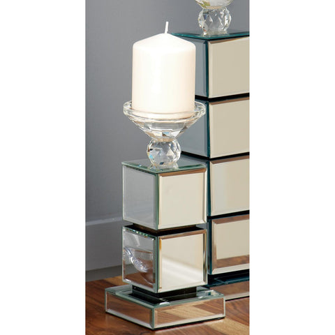 Zimlay Glam Stacked Mirror Cube Candle Holder 79285
