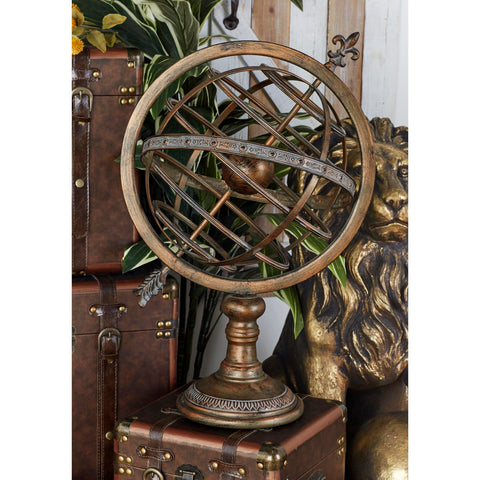 Zimlay Traditional Metallic Pedestal Armillary Sphere 80463