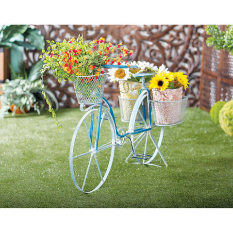 Zimlay Farmhouse Iron And Aluminum Bicycle Planter 86943