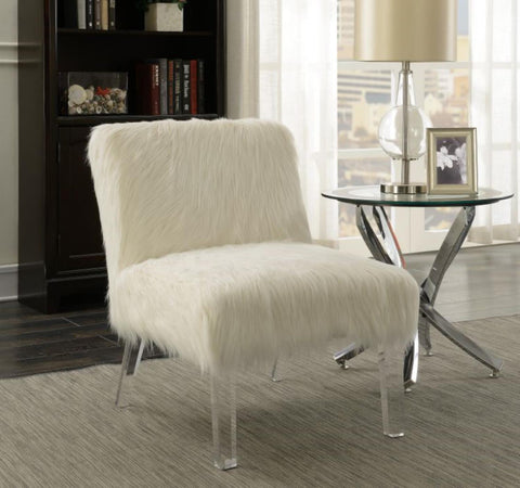 Coaster Contemporary White Accent Chair 904059