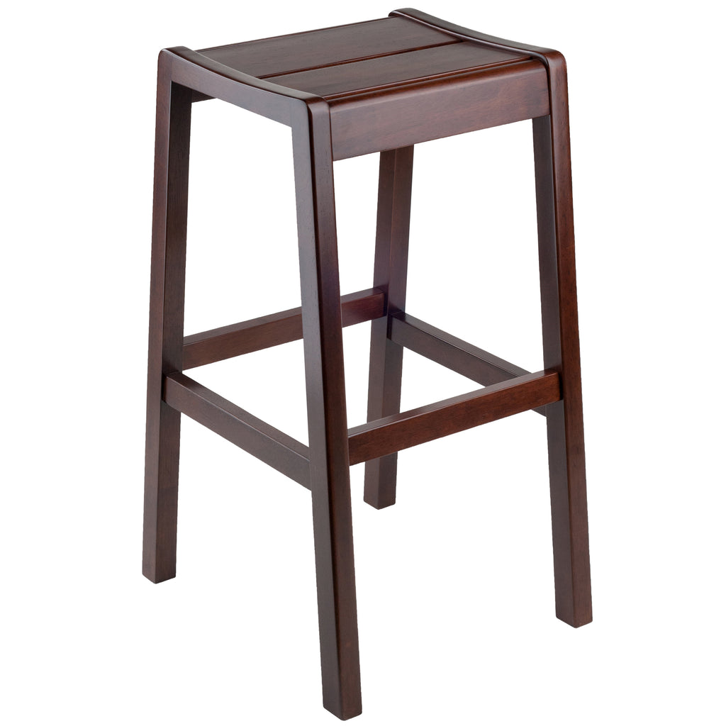 "Winsome Wood Alicante Bar Stool 29"" With Walnut Finish 94146"