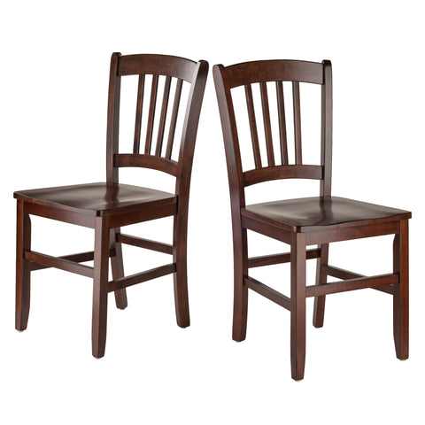 Winsome Wood Transitional Walnut Solid Wood 2 Pieces Chair 94245