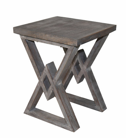 Privilege Contemporary Wood accent table With Gray Finish 95063