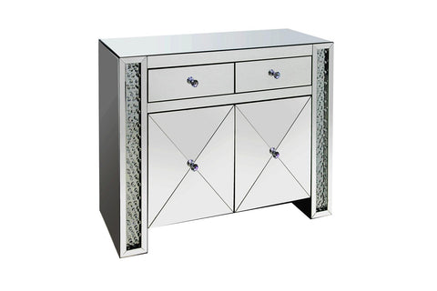 Coaster Contemporary Silver Cabinet 951050