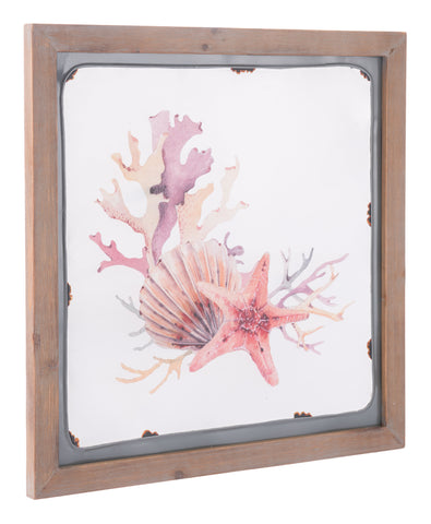 GwG Outlet Decor Fir Wood And Steel Wall Decor In Multicolor Finish A11522