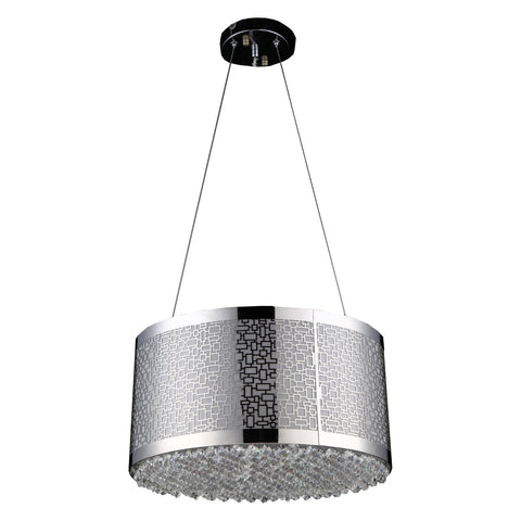 Bromi Design Modern,Contemporary Chrome Stainless Steel Chandelier B8702