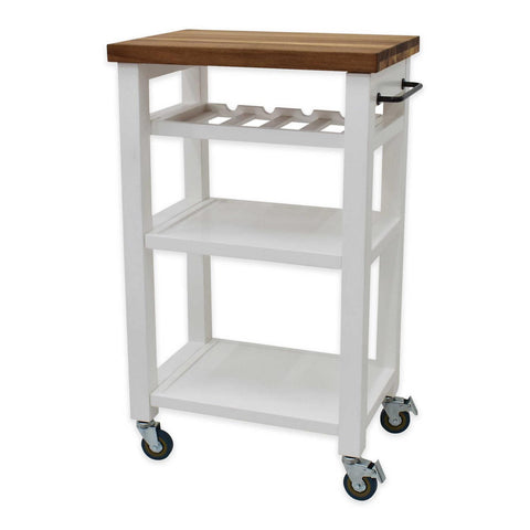 Steve Silver Belden Kitchen Cart-White BD150CKW