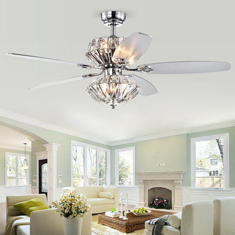 Warehouse Of Tiffany Remote Control Lighted Ceiling Fan CFL-8366REMO/CHD