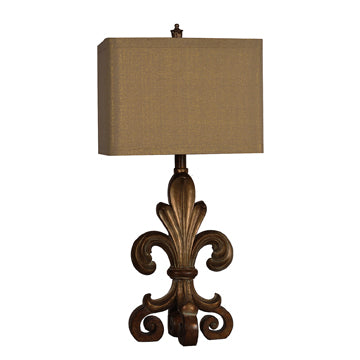 "Crestview Orleans Table Lamp 34""Ht. In Resin Finish CVAUP845"