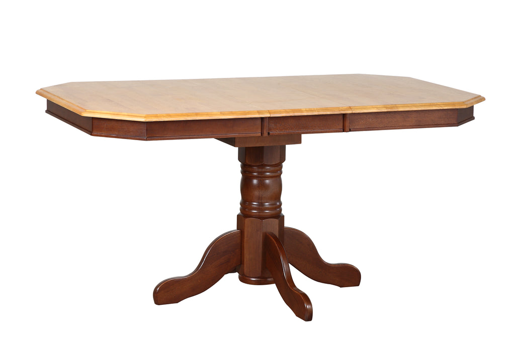 Sunset Trading Oak Selections Pedestal Extendable Dining Table DLU-TCP3660-NLO