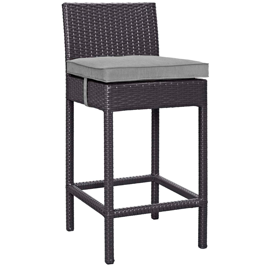 Modway Convene Aluminum Bar Stool In Espresso Gray Finish EEI-1006-EXP-GRY