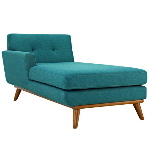 Modway Engage Left Facing Upholstered Fabric Chaise In Teal Finish EEI-1793-TEA