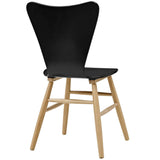 Modway Cascade Wood Dining Chair With Black Finish EEI-2672-BLK
