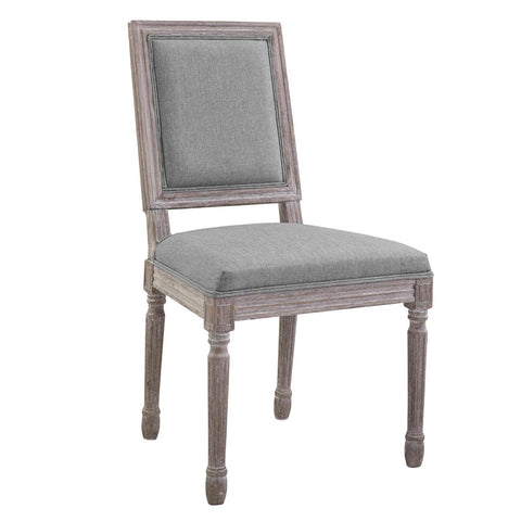 Modway Court Rubber Wood Dining Chair In Light Gray Finish EEI-2682-LGR