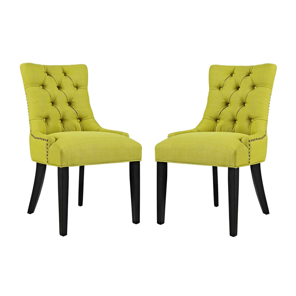 Modway Regent Dining Side Chair Fabric Set of 2 In Wheatgrass EEI-2743-WHE-SET