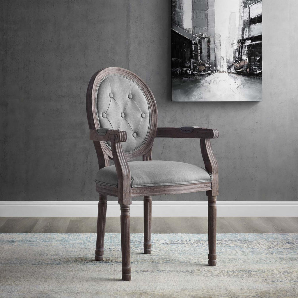 Modway Arise Rubber Wood Dining Chair In Light Gray Finish EEI-2796-LGR