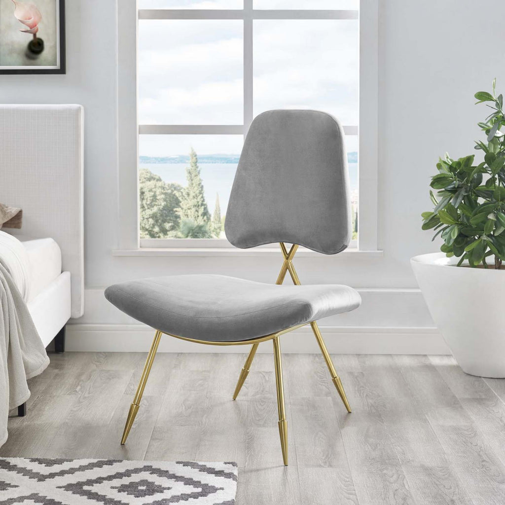 Modway Ponder Polyester Chair In Gray Finish EEI-2809-GRY
