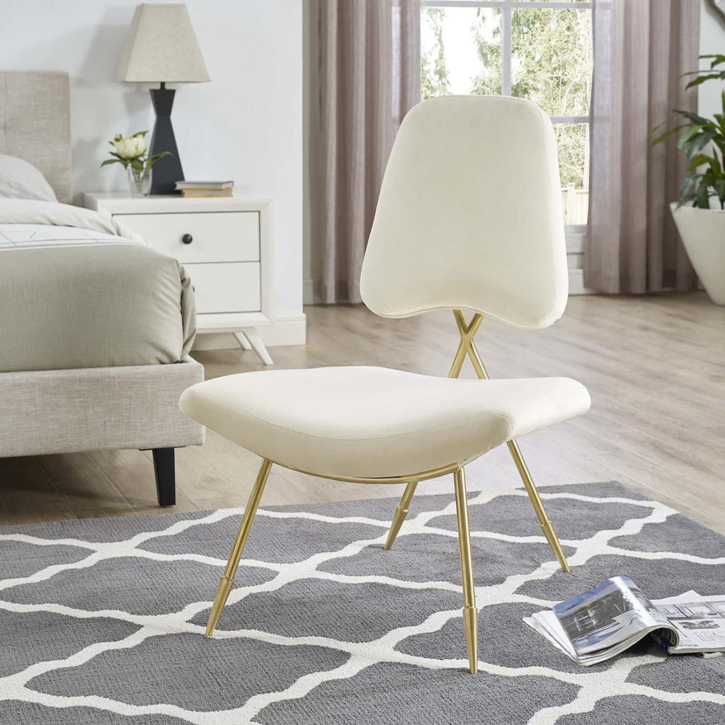 Modway Ponder Polyester Chair In Ivory Finish EEI-2809-IVO