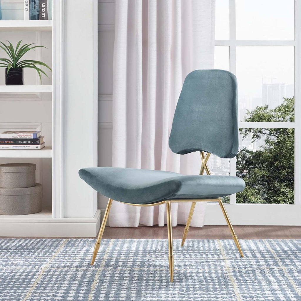 Modway Ponder Polyester Chair In Sea Finish EEI-2809-SEA