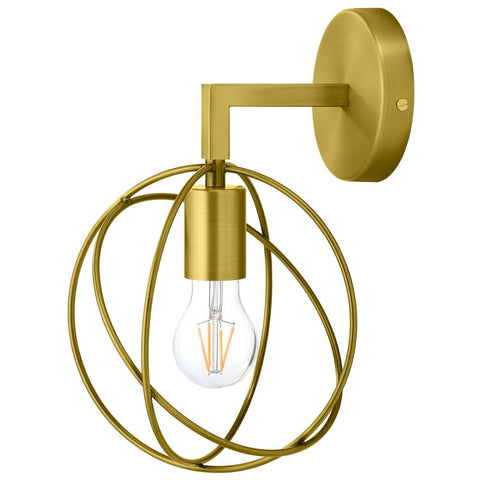 Modway Perimeter Brass Wall Sconce Light Fixture With Finish EEI-2915