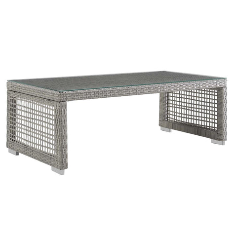 Modway Aura Aluminum Coffee Table In Gray Finish EEI-2919-GRY