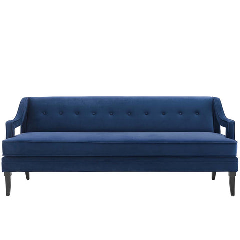 Modway Concur Button Tufted Performance Velvet Sofa With Navy EEI-2997-NAV