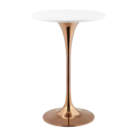 "Modway Lippa 28"" Bar Table With Rose White Finish EEI-3265-ROS-WHI"