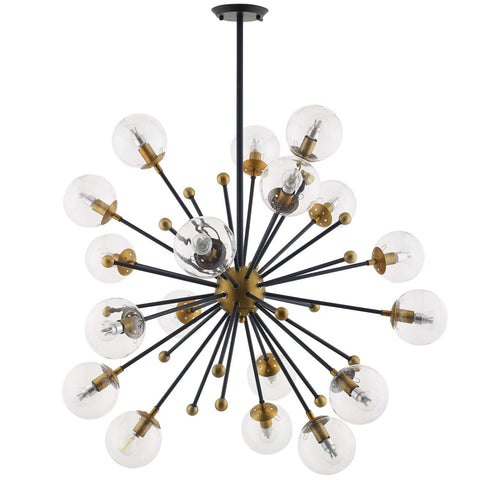 Modway Constellation Glass And Brass Ceiling Light Pendant Chandelier EEI-3273