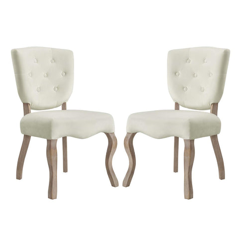 Modway Array Set Of 2 Dining Side Chair With Ivory Finish EEI-3381-IVO