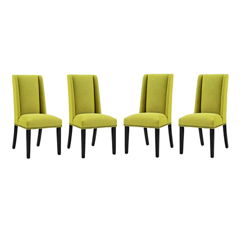 Modway Baron Fabric Set Of 4 Dining Chair With Wheatgrass Finish EEI-3503-WHE