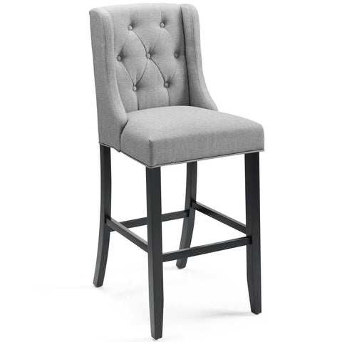 Modway Baronet Tufted Button Upholstered Fabric Bar Stool EEI-3741-LGR