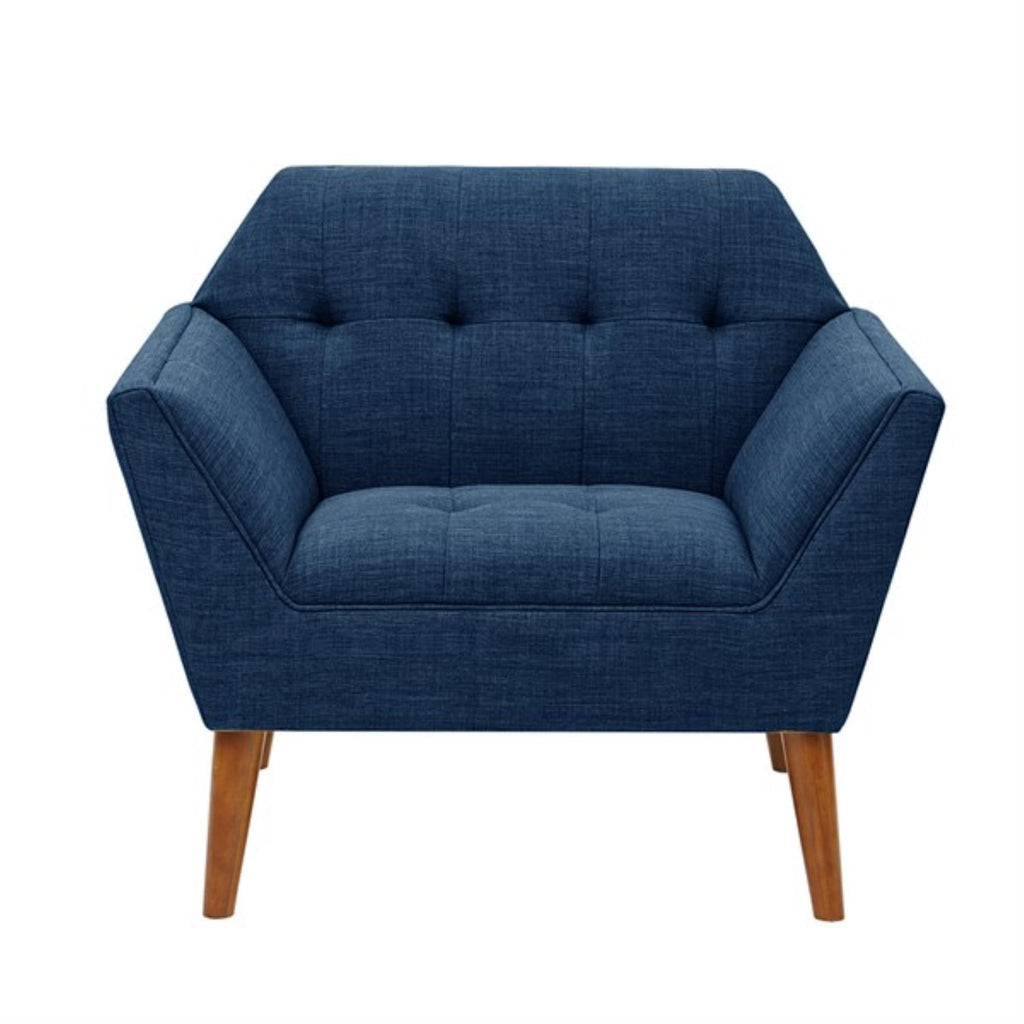Madison Park Newport Wood Chair In Blue Finish II100-0063