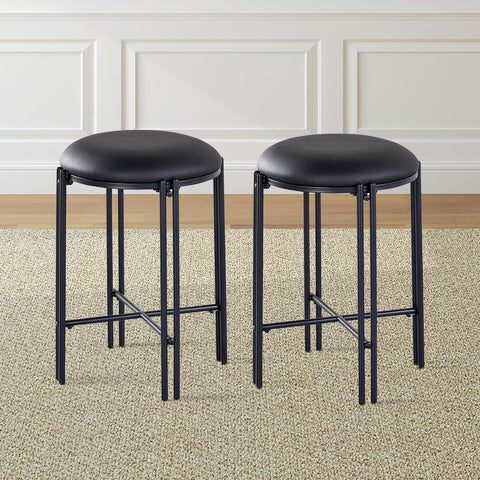 Steve Silver Morgan Backless Round Counter Stool-Set of 2 MG450CSK