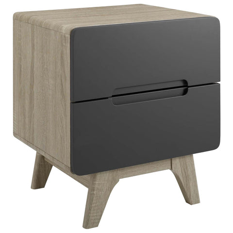 Modway Origin Wood Nightstand Or End Table MOD-6073-NAT-GRY