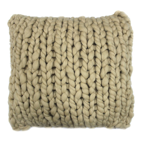 Moe's Abuela Wool Feather Cushion 20X20 With Beige Finish OX-1026-34