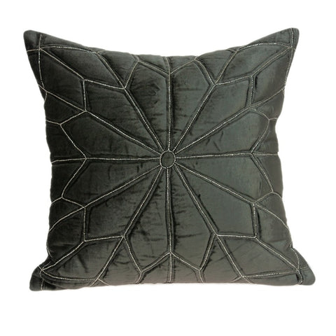 Parkland Collection Transitional Grey Pillow with Poly Insert PILD11132P - gwg-outlet