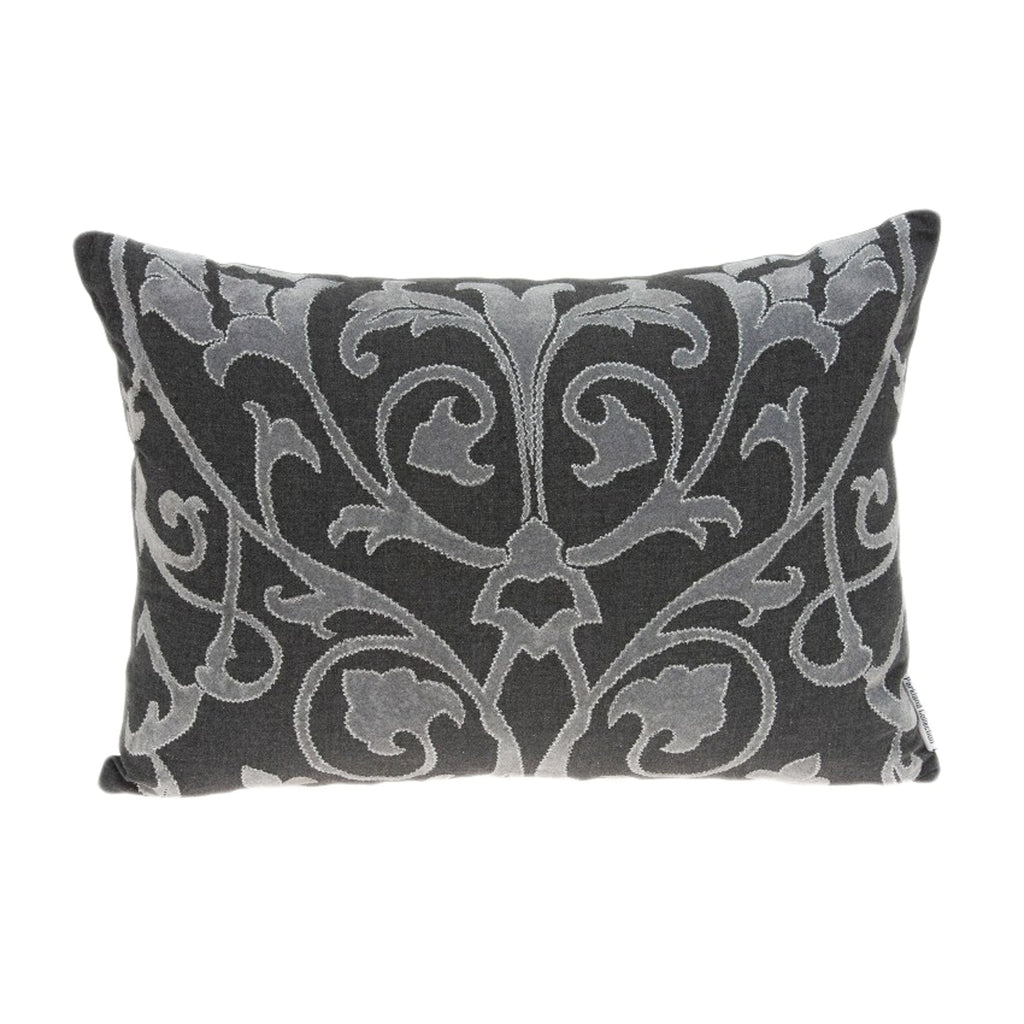 Parkland Collection Traditional Grey Pillow with Down Insert PILD11136D - gwg-outlet