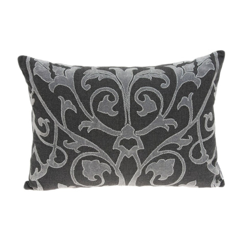 Parkland Collection Traditional Grey Pillow Cover PILD11136C