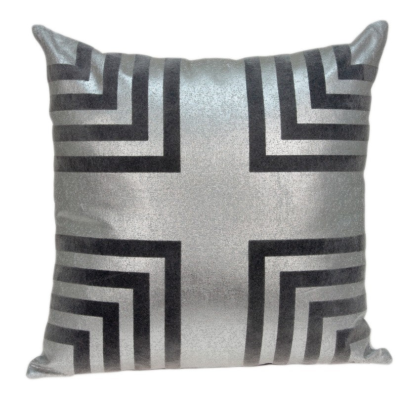 Parkland Collection Transitional Grey Pillow Cover PILD11137C - gwg-outlet