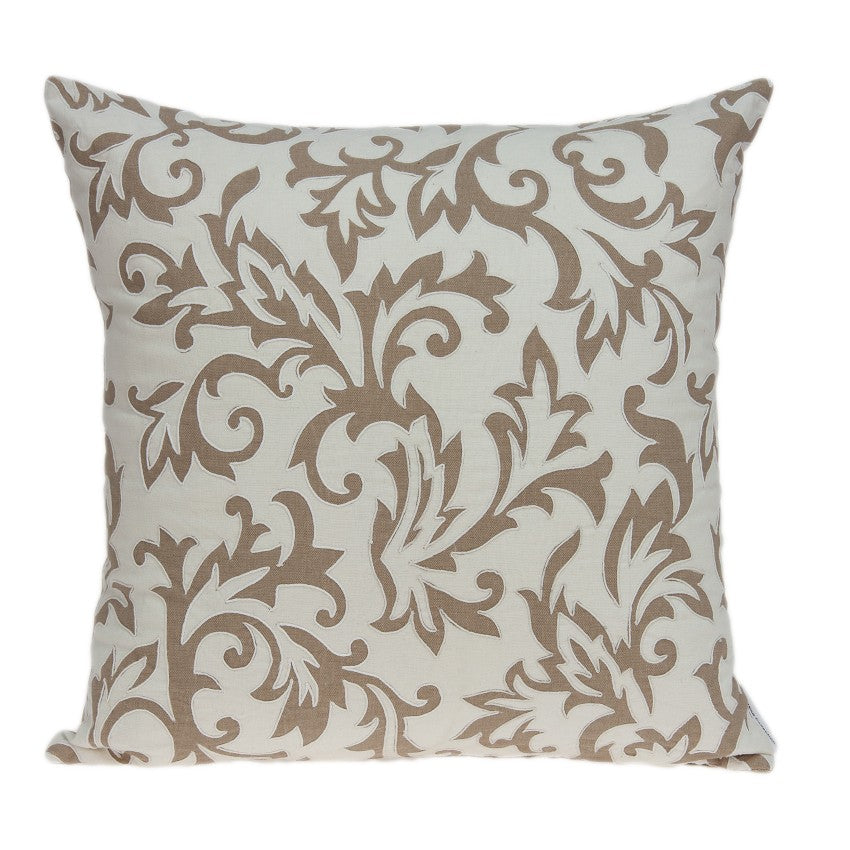 Parkland Collection Cairo Beige Throw Pillow PILD11158P