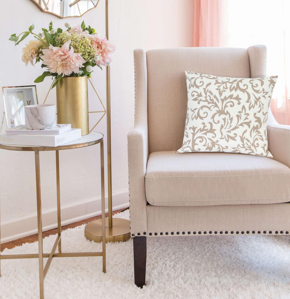 Parkland Collection Cairo Beige Throw Pillow Cover PILD11158C