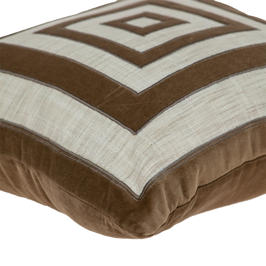 Parkland Collection Lexa Brown Down Filled Throw Pillow PILF21002D