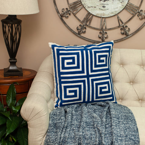 Parkland Collection Gio Blue Throw Pillow PILF21006P