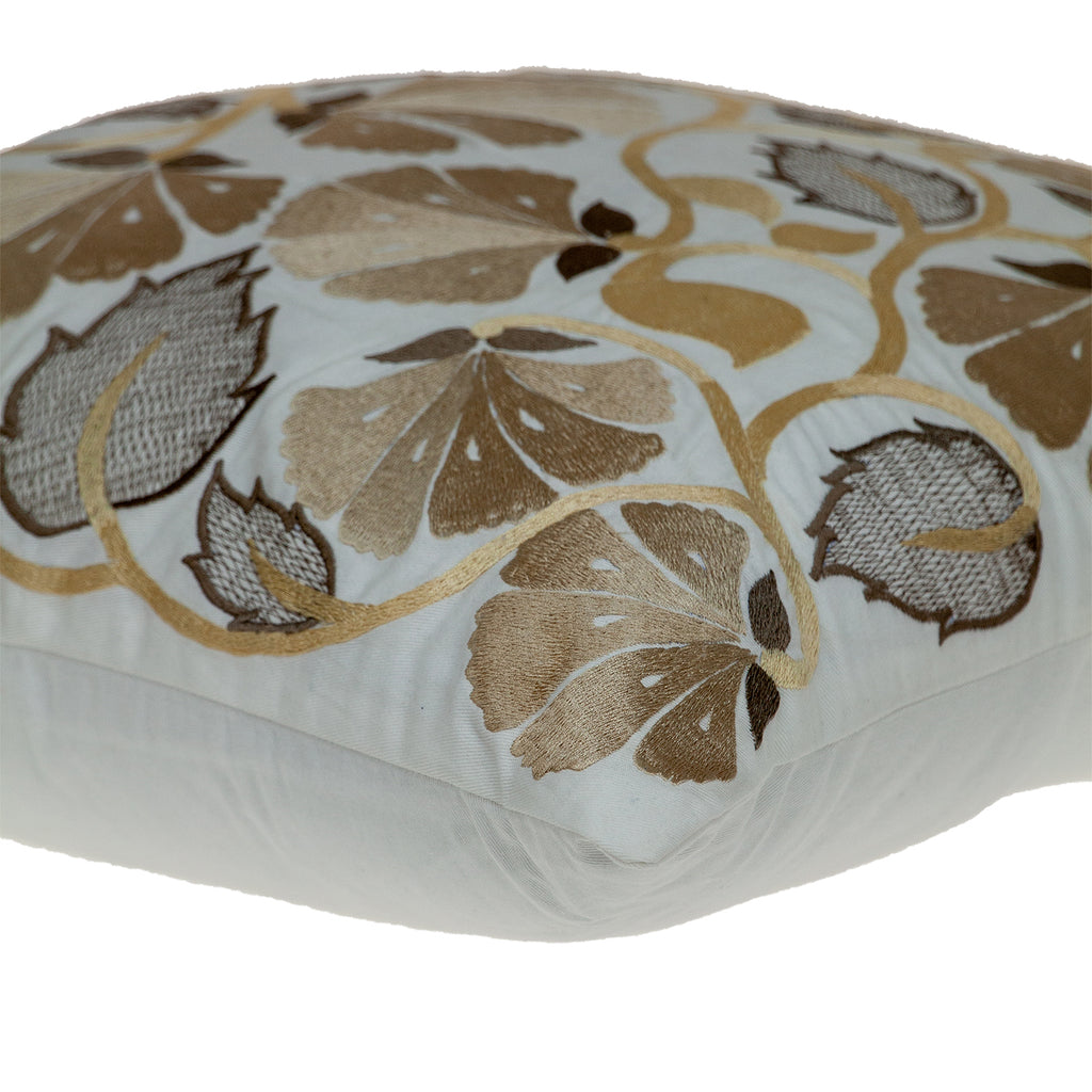 Parkland Collection Cassidy White Down Filled Throw Pillow PILF21009D