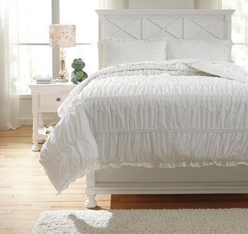 Ashley Brently White Full Duvet Cover Set Q767003F