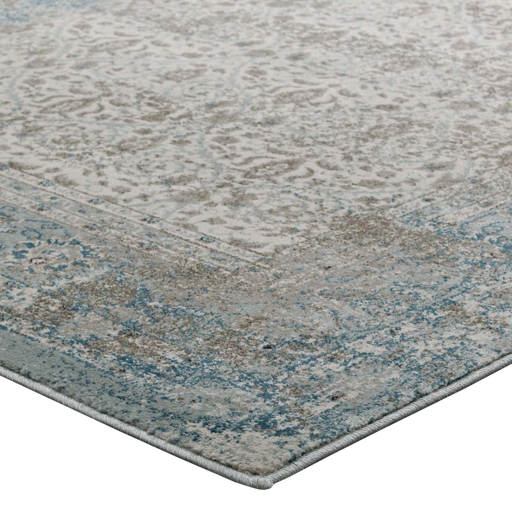 Modway Dilys Polypropylene 90.5X63 Area Rugs In Brown And Beige R-1103A-58