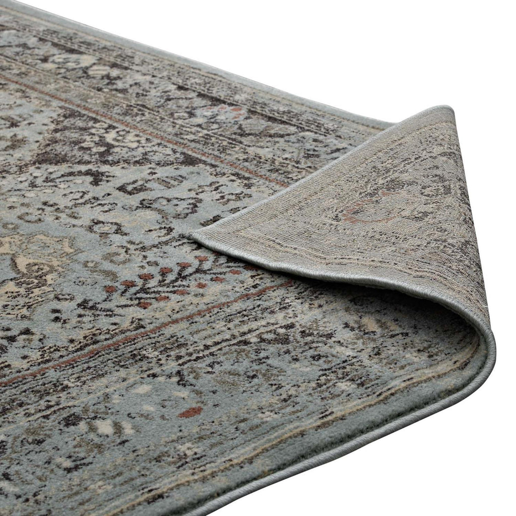 Modway Enye Polypropylene 90.5X63 Area Rugs In Brown And Silver Blue R-1105A-58