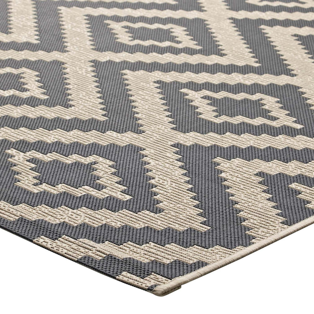 Modway Jagged Polypropylene 90.5X63 Area Rugs In Gray And Beige R-1135A-58