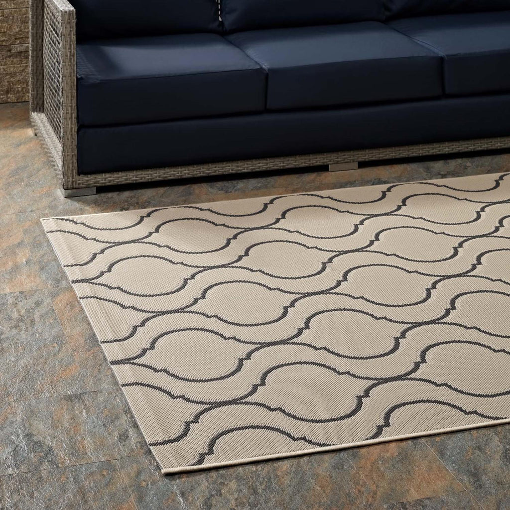 Modway Linza Polypropylene 90.5X63 Area Rugs In Beige And Gray R-1136A-58