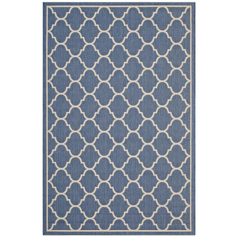 Modway Avena Polypropylene 90.5X63 Area Rugs In Blue And Beige R-1137A-58